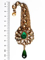 Golden Stone Longer Paisley KAGK10109 Indian Jewellery