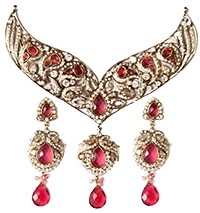 Couture American Diamond Necklace Set NAPA03279 Indian Jewellery