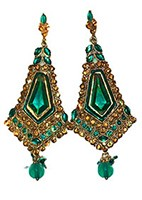 Antique diamante Earrings EALC0807 Indian Jewellery