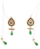Kashmiri Jhumka Earrings EAGC04033 Indian Jewellery