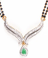 Green Coloured Mangalsutra Set MGGA04431 Indian Jewellery