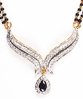 Black Mangalsutra Set MGBA04433 Indian Jewellery