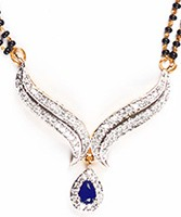 Sapphire Blue Mangalsutra Set MGLA04434 Indian Jewellery