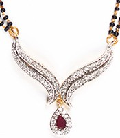 Maroon Mangalsutra Set MGRA04435 Indian Jewellery