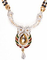 Meena Mangalsutra Set MGAA04438 Indian Jewellery