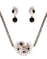Black American Diamond Mangalsutra Necklace MABA11276 Indian Jewellery