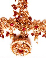 Rajasthani Borla Tikka with Matha Patti DGRC03707 Indian Jewellery
