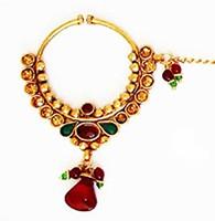 Medium Bridal Nath TAAC0399 Indian Jewellery