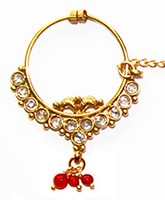 Medium Bridal Nath No.5 TGRP02428 Indian Jewellery