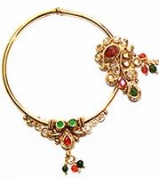 Large Bridal Nath No.6 TGAP02432 Indian Jewellery