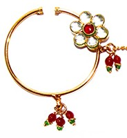 Kundan Medium Bridal Nath TGAK02449 Indian Jewellery
