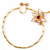 Indian Screw Nath TGRL04501 Indian Jewellery