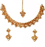 22k Effect Delicate Necklace Set NGWA03165 Indian Jewellery