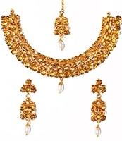 22k Effect Medium Necklace Set NGWA03166 Indian Jewellery