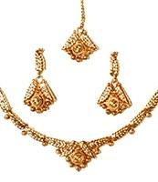 22k Effect Delicate Set NGWA03168 Indian Jewellery