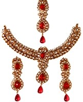 Antique American Diamond Necklace Set NARA03223 Indian Jewellery