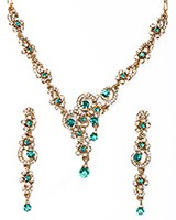 Elegant Crystal Necklace - Susan NAWC10562C Indian Jewellery