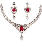 Fine American Diamond Necklace Set NGRA04722 Indian Jewellery