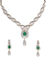 American Diamond Necklace Set NGGA04726 Indian Jewellery