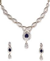 American Diamond Necklace Set NGLA04727 Indian Jewellery