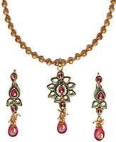 Kundan Pendant Mala Set NAPK04740 Indian Jewellery