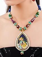 Large Indian God/ Goddess / Pooja Pendant Mala - Radha Krishna Couple NGMK04797 Indian Jewellery