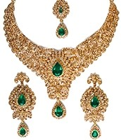 Ishie Crystal Necklace Set NCGC10014C Indian Jewellery