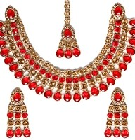 Champagne Flexible Collar Necklace Set - PARI NCLC10031C Indian Jewellery