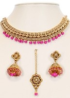 Collar Necklace Set NGPN10047 Indian Jewellery