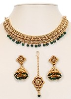 Collar Necklace Set NGGN10049 Indian Jewellery