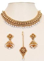 Collar Necklace Set NGWL10050 Indian Jewellery