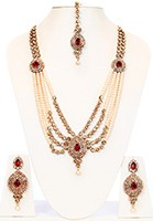 Rhia Multi-stranded Pearl Necklace NACC10140C Indian Jewellery