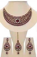 Crystal Collar Necklace Set - Ella NAGC10498C Indian Jewellery