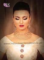 Multi-Strand American Diamond Set - Samantha NEWA10598 Indian Jewellery