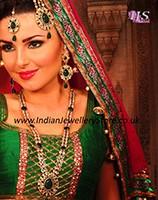 American Diamond Necklace Set incl Jhumar - Fizah NGGA10624C Indian Jewellery
