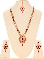 American Diamond Necklace Set - Usha NGWA10629C Indian Jewellery