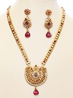 22k Plated Rajasthan Rani Haar Set NGWA10631 Indian Jewellery