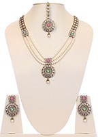 Pearl Antique Mala - Usha NAWL10650C Indian Jewellery