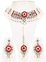 Antique Pearl & Kundan Choker- Kismat NAWL10703C Indian Jewellery