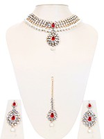 Light Gold Pearl Choker Set - Mandy NAWK10775C Indian Jewellery