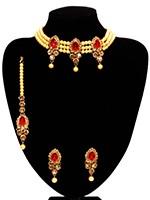 Classic Pearl Choker - Pooja NANC10794C Indian Jewellery