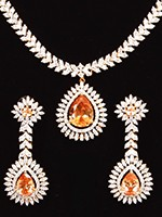Sophisticated American Diamond Necklace Set NENA10852 Indian Jewellery