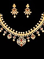 Elegant American Diamond Set NEWA10856C Indian Jewellery