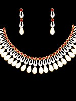 Elegant American Diamond Set NERA10860C Indian Jewellery