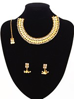 Delicate Tradtional Set - Saraswati NELA10866C Indian Jewellery