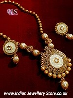 Matar Mala Pendant Set NENL10879C Indian Jewellery