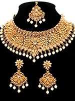 Regal Flower Pearl Indian Bridal Jewellery BENA10896 Indian Jewellery