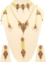 Pearl Choker Bridal Jewellery Set - Milni BAPL10911C Indian Jewellery