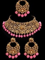 Asian Indian Choker Necklace Set NGNC10921C Indian Jewellery
