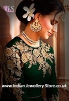 Kundan Indian Choker Jewellery - Jothi NEWK10977C Indian Jewellery